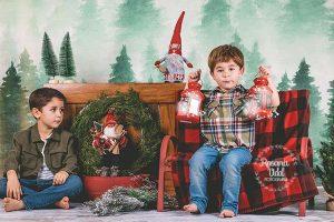 sesión de fotos navideña